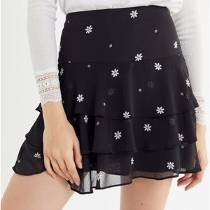 Urban Outfitters Mini Ruffled Skirt